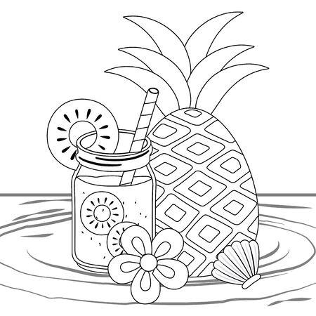 Isolated pineapple juice design vector illustration 向量圖像