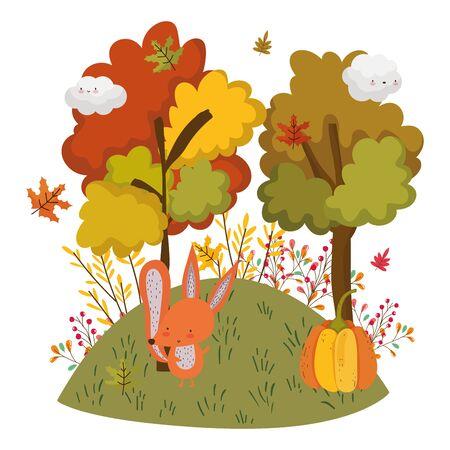 cute animal foliage hello autumn Foto de archivo - 138257590