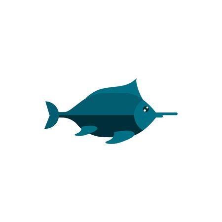 fish cartoon sea animal marine vector illustration 向量圖像