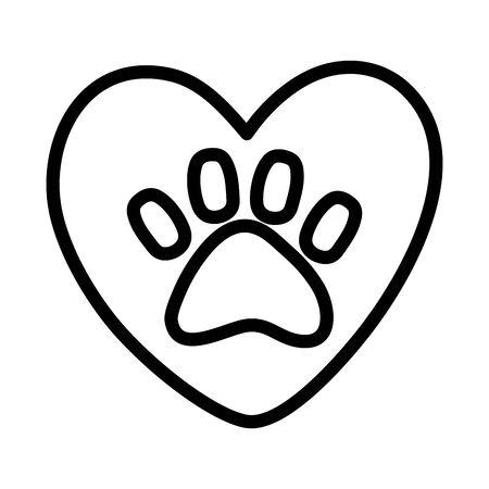 adoption heart love paw animal print campaign Reklamní fotografie - 138333064