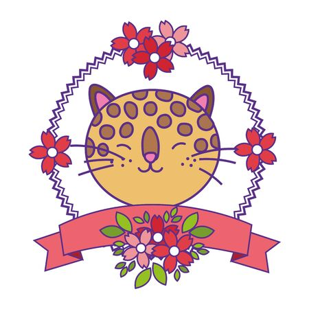 Isolated leopard cartoon vector design vector illustration Vetores