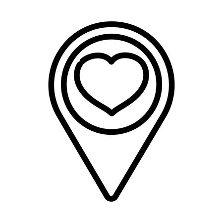 happy valentines day, pointer location love heart passion thick line
