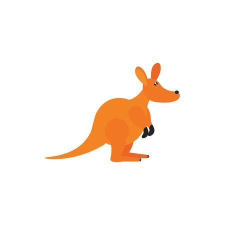 kangaroo animal wildlife australia icon on white background vector illustration