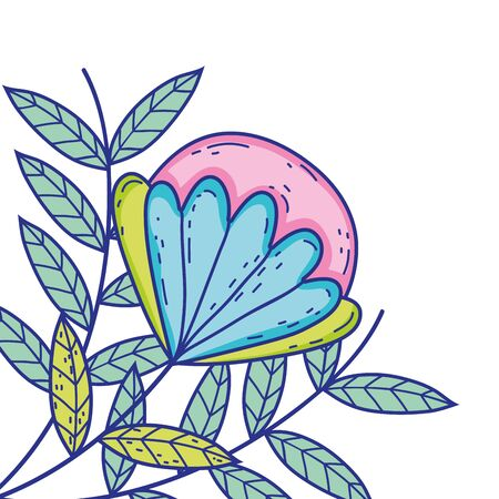 Flower draw design, floral nature plant ornament garden decoration and botany theme Vector illustration