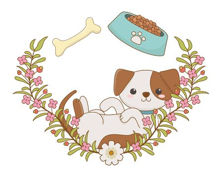 Dog cartoon design, Mascot pet animal nature cute and puppy theme Vector illustration