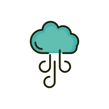 cloud wind season weather nature drawing Ilustracja