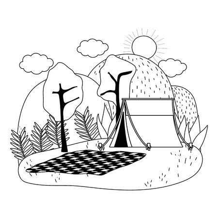 Tent design, Camping forest adventure lifestyle summer travel and outdoor theme Vector illustration Ilustracja
