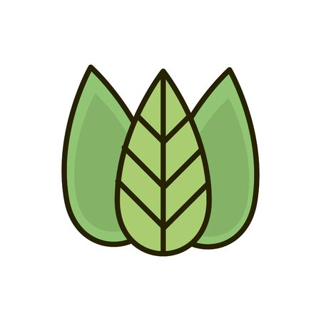 ecology environment leaves foliage nature drawing vector illustration