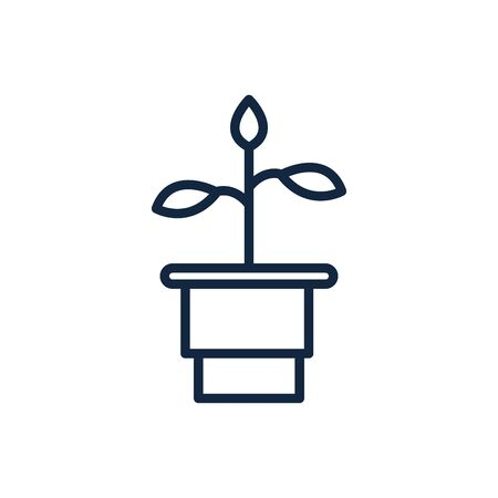 potted plant nature ecology environment icon 向量圖像