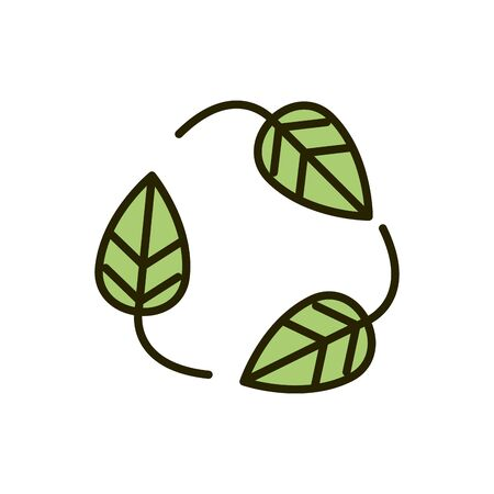 environment eco leaves nature drawing Ilustracja