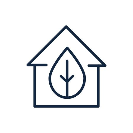 house leaf nature ecology environment icon linear