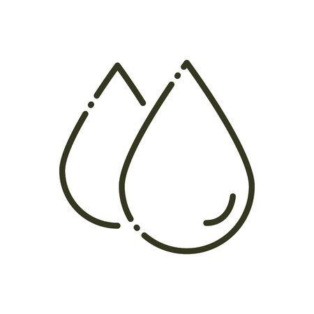 drops water liquid nature line design vector illustration Foto de archivo - 138396829