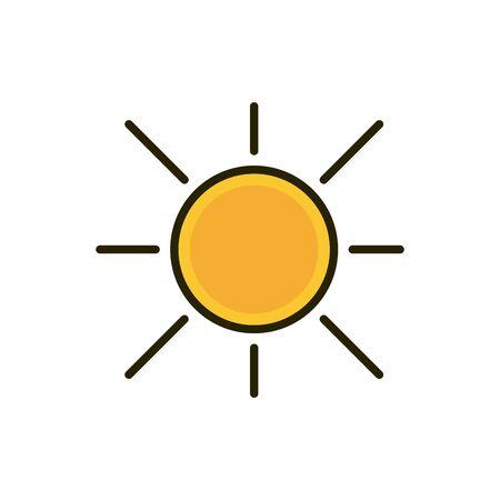hot sun summer weather nature drawing Иллюстрация