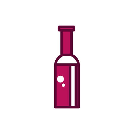 wine bottle liquor celebration drink beverage icon line and filled Ilustração