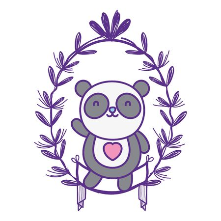 Isolated panda cartoon vector design vector illustration Векторная Иллюстрация