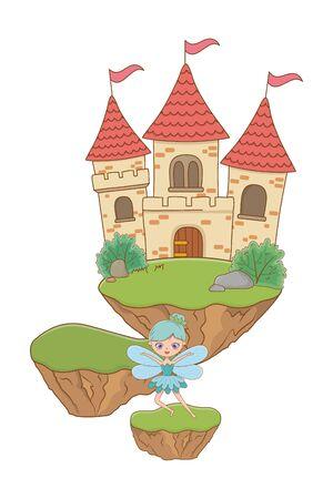 Fairy cartoon of fairytale design vector illustration Illustration