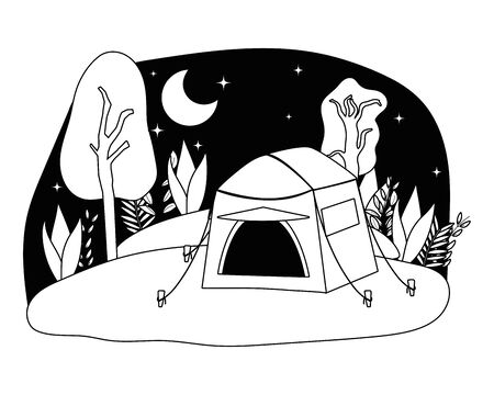 Tent design, Camping forest adventure lifestyle summer travel and outdoor theme Vector illustration  イラスト・ベクター素材