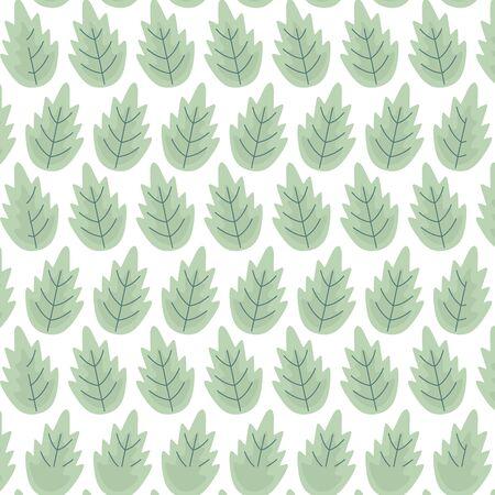 background decorative green leaves foliage vector illustration