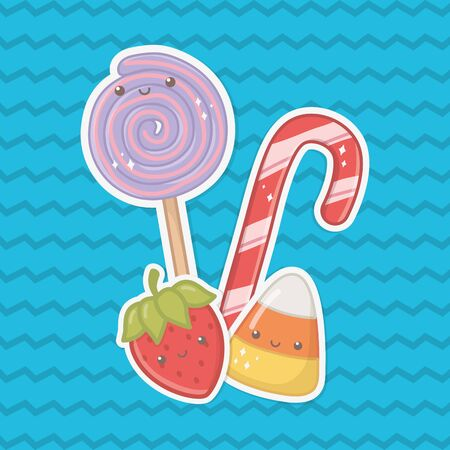 Sweet food design, dessert sugar delicious snack and tasty theme Vector illustration