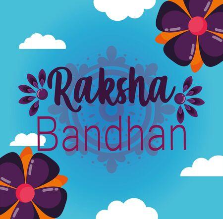 happy raksha bandhan poster design