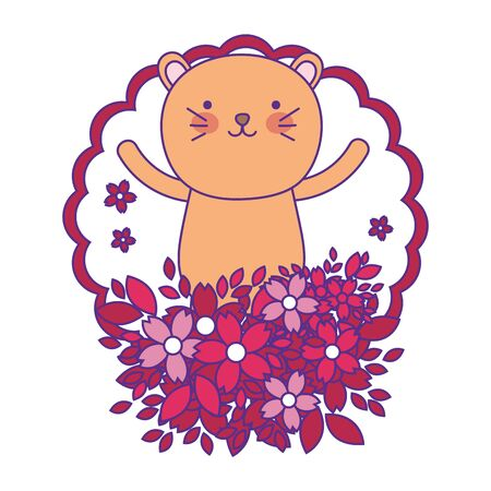 Isolated lioness cartoon vector design vector illustration Stock Illustratie