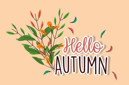 foliage leaves hello autumn season