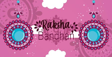 raksha bandhan mega sale poster hang flower ornate vector illustration Ilustração