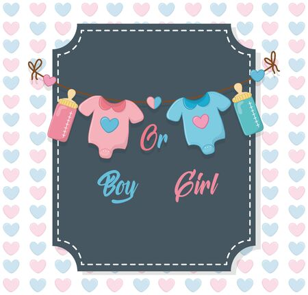 Baby shower of a girl and boy design  イラスト・ベクター素材