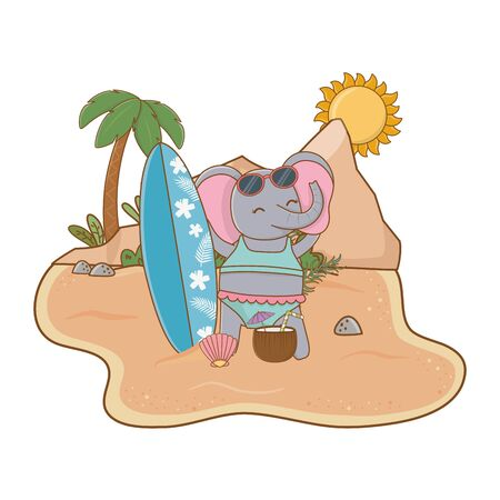 cute animal enjoying summer vacations