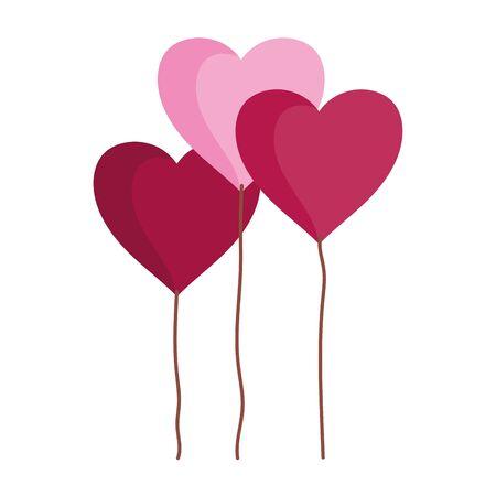 happy valentines day, cute balloons shaped hearts romantic love