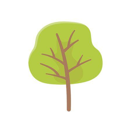 greenery tree foliage botanical nature icon on white background vector illustration Illusztráció