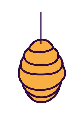 hanging honeycomb hive icon design vector illustration Ilustracja