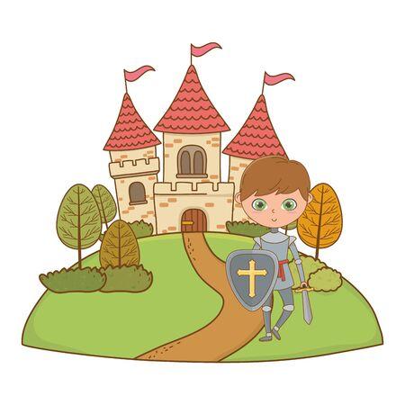 Isolated medieval knight design vector illustration 일러스트