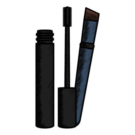 eyelash make up drawing icon vector illustration design Çizim