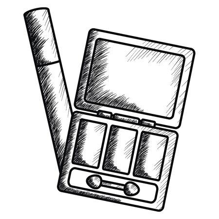 eye shadows and eyelash make up drawing icon