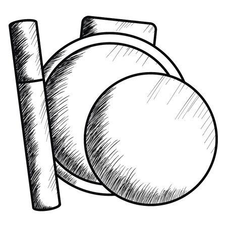 blush and eyelash make up drawing icon vector illustration design