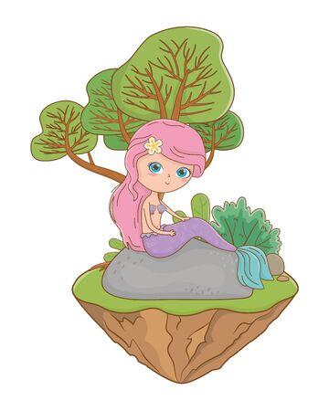 Mermaid design, Fairytale history medieval fantasy kingdom tale game and story theme Vector illustration Ilustração