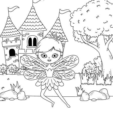 Fairy cartoon of fairytale design