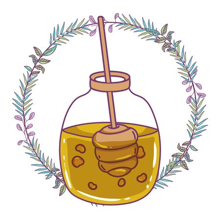 Honey jar design, Healthy organic food sweet liquid and natural theme Vector illustration
