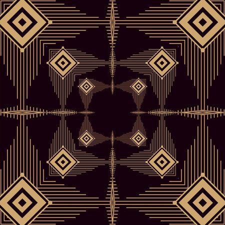 black background art deco frames