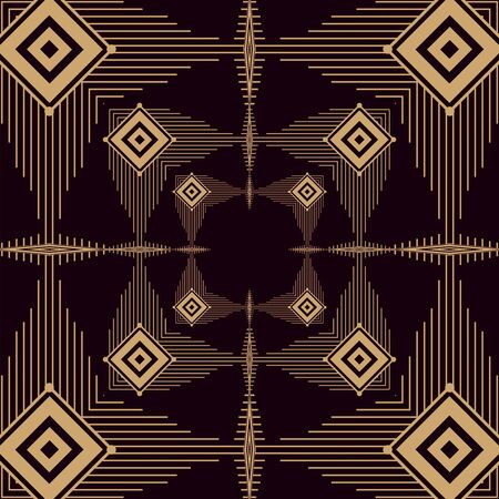 marcos art deco de fondo negro