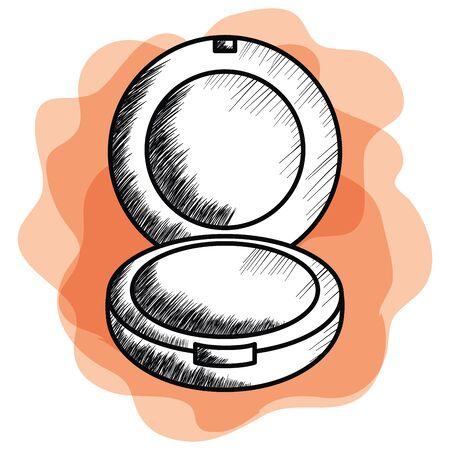 arrossire trucco icona del disegno