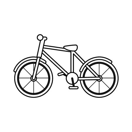 bicycle transport recreation equipment icon on white background vector illustration thick line