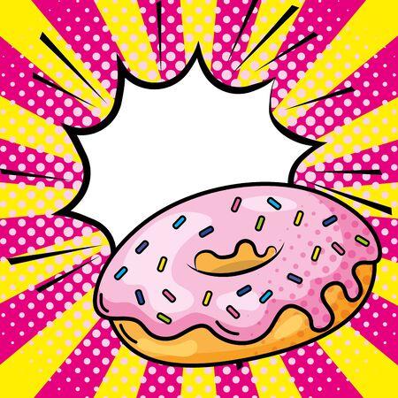 donut icon cartoon vector illustration 矢量图像