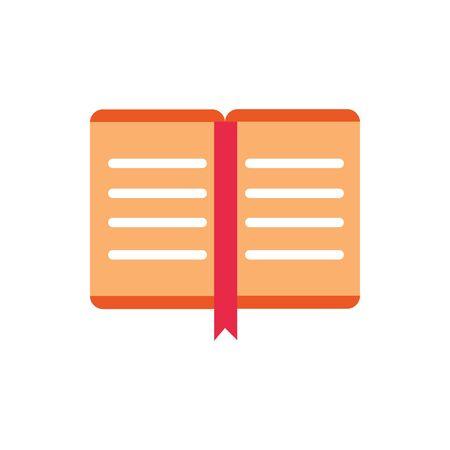 open book encyclopedia literature read education school vector illustration icon design