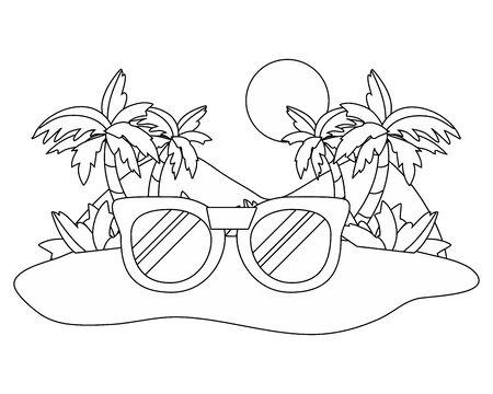 Isolated glasses design vector illustration