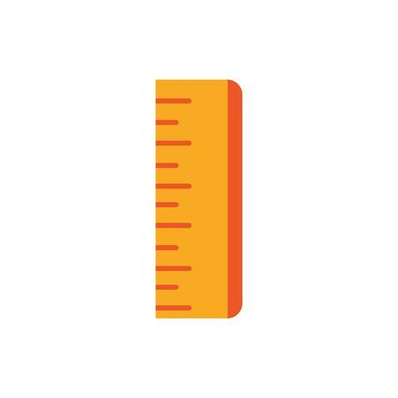 ruler measure supply education school icon design Ilustración de vector