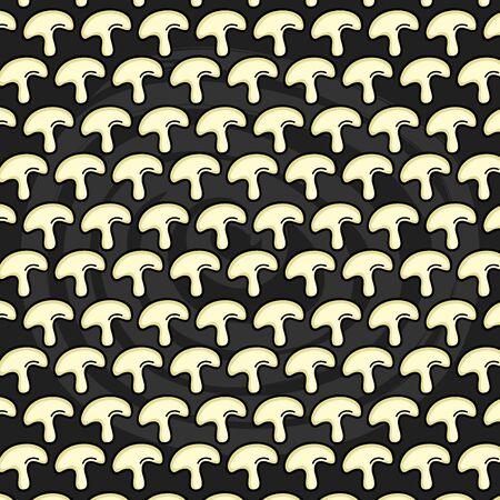 fresh mushroom vegetables pattern background vector illustration design Illustration