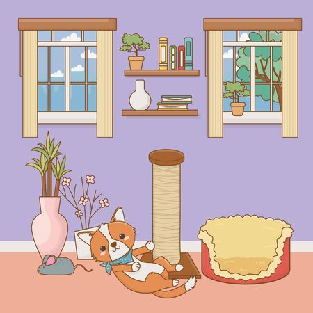 Dog cartoon design vector illustrator Vettoriali