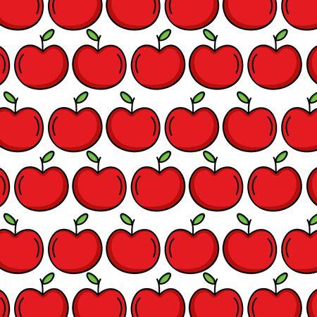 fresh tomatoes vegetables pattern background vector illustration design